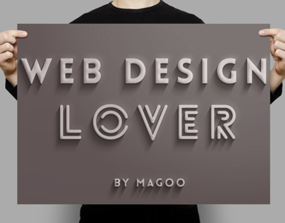 Poster Web Design Lover