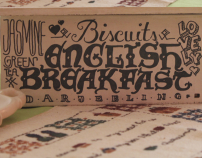 Lettering - tea box (personal project)