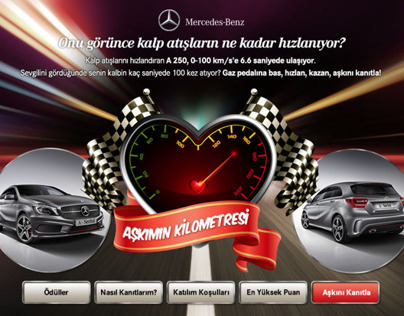 Mercedes-Benz Valentines Facebook Application Design