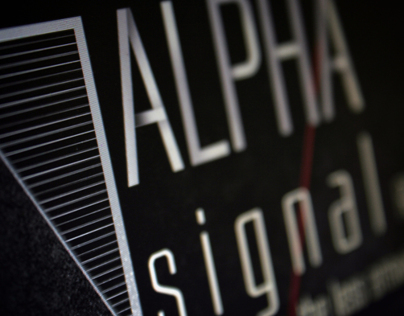 Logo for the techno label Alpha Signal Records