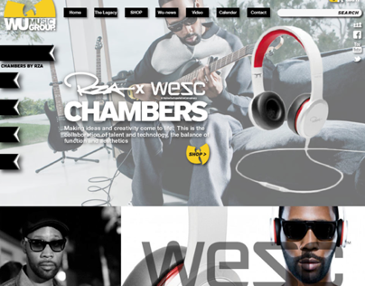 WU TANG ECOM AND NEWS SITE DESIGN