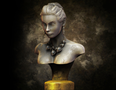 3D Lady Sculpture