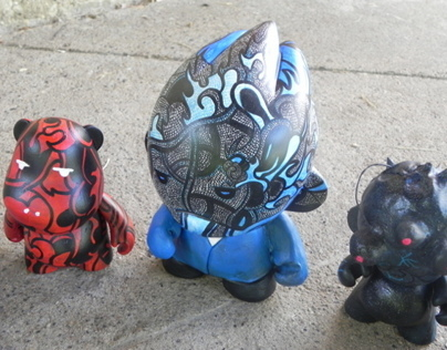 Custom Vinyl Toys: Cosmic Fox,Ren,Majestic,Salt/Pepper