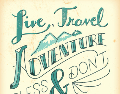 Live, Travel, Adventure Print