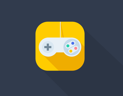 Nintendo video game remote iOS Flat App Icon Concept