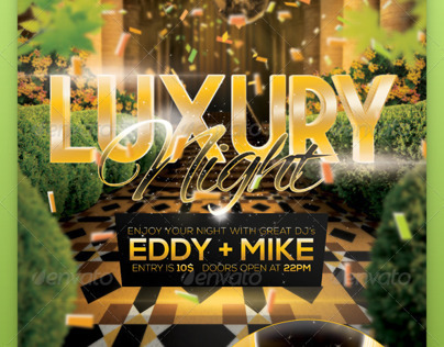 A4 Luxury Night Party Club Poster PSD