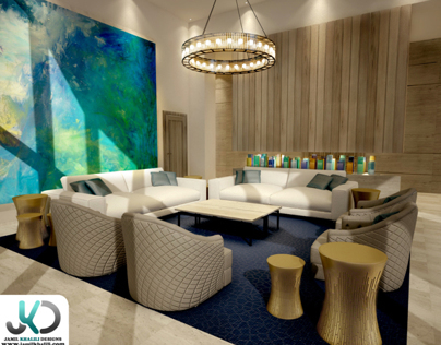 Dubai Apartments Lobby - 3d Visualizer,Dubai,UAE.