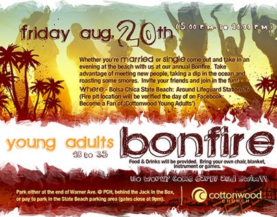 Young Adults Bonfire