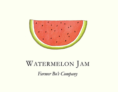 Fruit Jam Jar Label