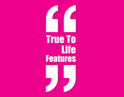 True To Life Features visual identity