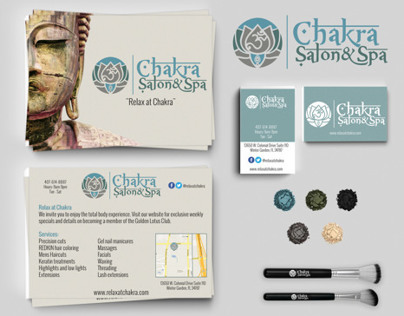 Chakra Salon & spa Identity Kit