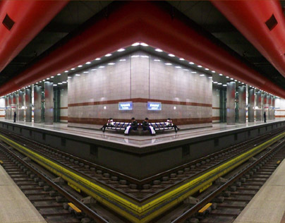 panoramic photos of metro stations
