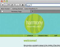 Harmony Yoga+Wellness Website