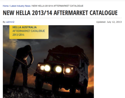Catalogue Evolution in 2012 @ HELLA