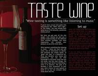 Magazine Layout (Wine Tasting)