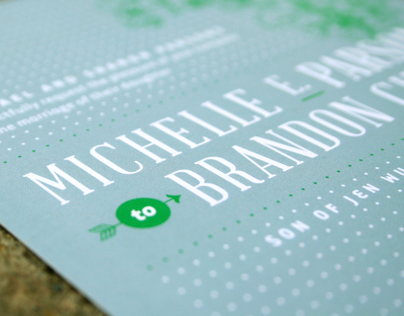 Brandon & Michelle Wedding Invitation