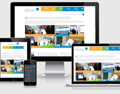 Responsive Webdesign: Corporate Website: Chips at Work