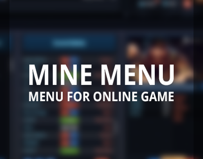 MINE MENU (game menu)