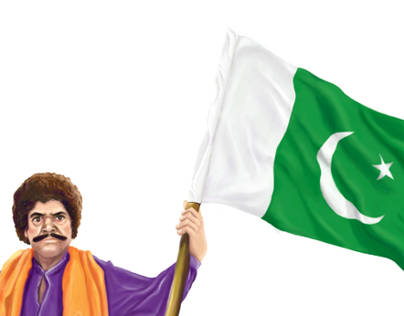 Maula Jutt celebrating the Independence of Pakistan
