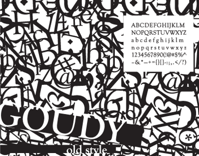 Goudy Type Specimen Poster