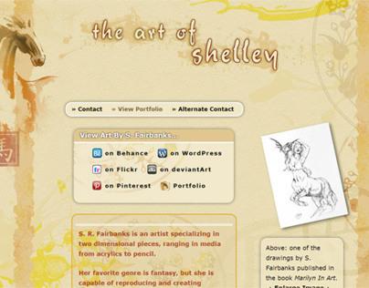 Art Site Web Design by K. Fairbanks