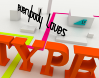 """Everybody Loves Type"" Poster"