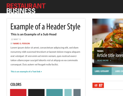 Restaurant Business Style Tile 1