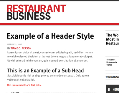 Restaurant Business Style Tile 2