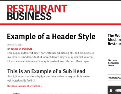 Restaurant Business Style Tile 2