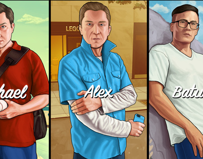 GTA V - fan art by Blackver