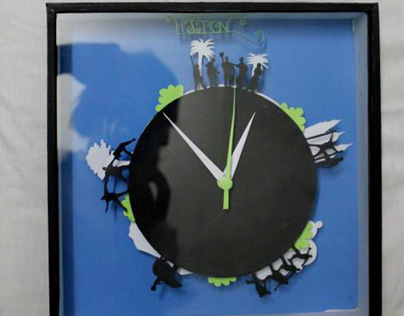Friends Clock