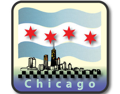 Chicago patch logo design using Illustrator