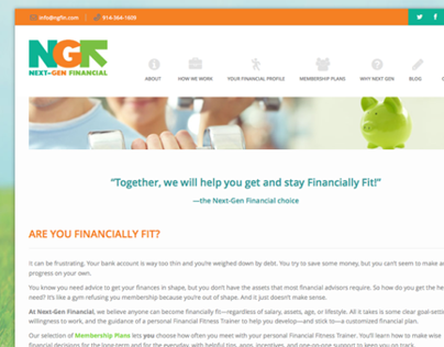 Next-Gen Financial Website Design