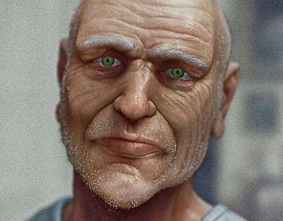 Old Man - 3d Portrait