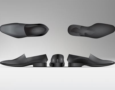 Illustrator and 3D CAD - Mens Shoes