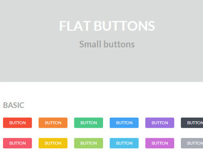 Flat Buttons - Updated