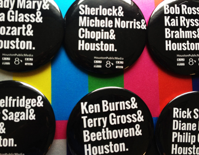 Houston Public Media Ampersand Buttons