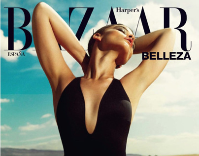 Crystal Renn in 'La Escapada' by Nico - Harper's Bazaar