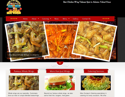 Miss Crumpys Hotwings - Customized WordPress Site