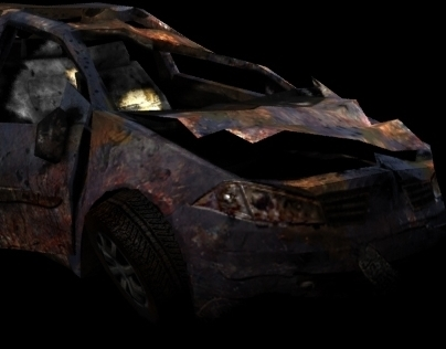 Destroyed Car - Favela Wars