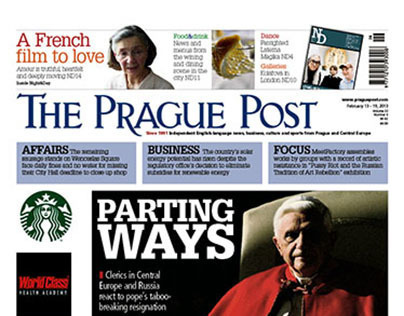 Front page selection from The Prague Post (08.12-07.13)