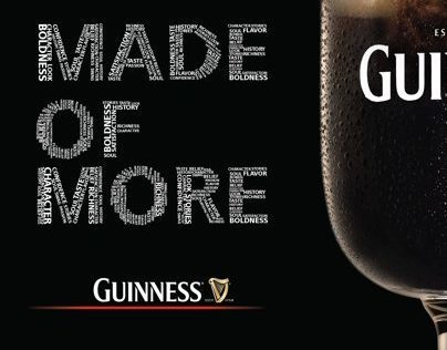 GUINNESS MADE OF MORE HOLDING CAMPAIGN 2013 OUTDOOR