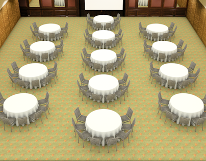 3D VIDEO Render Banquet Asset