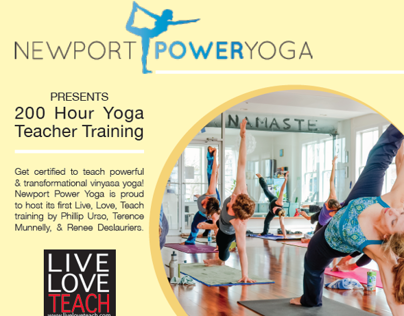 Newport Power Yoga - Teacher Training Flyer