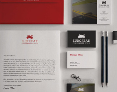 European Performance Cycles Identity Package