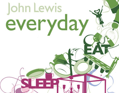 John Lewis in store internal advertising product poster
