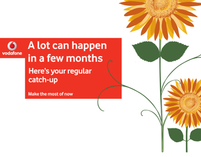 Vodafone Uk Direct mail out advertising commissioned by