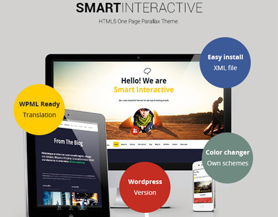 WP - Smart Interactive HTML5 one page creative parallax