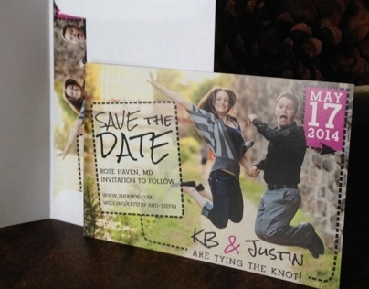 KB + Justin Save the Date