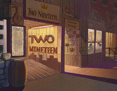 Two Nineteen restaurant - interior and exterior design